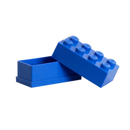 Lego - Mini-Box 8, blue - open