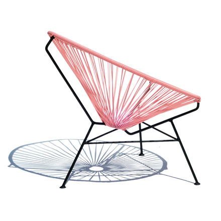 OK Design - The Condesa Chair, pink - lateral