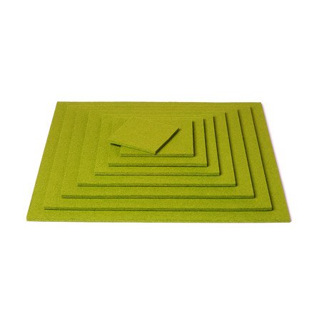 Hey Sign - Square Coaster, verde - pile