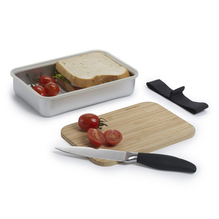 Black + Blum - Sandwich Box, silber - food