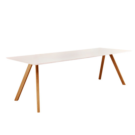Hay - Copenhague Dining Table 30, white/oak wood