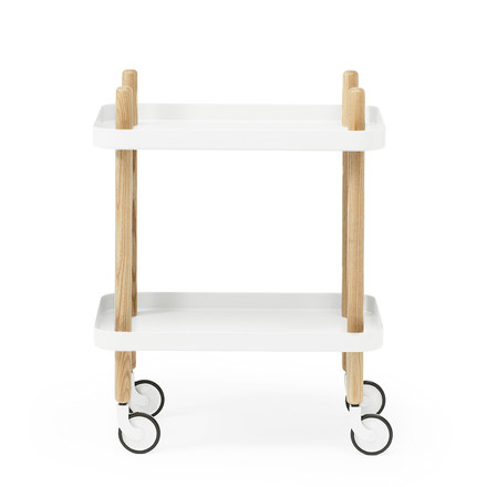 Normann Copenhagen - Block side cart, white - long side, single image
