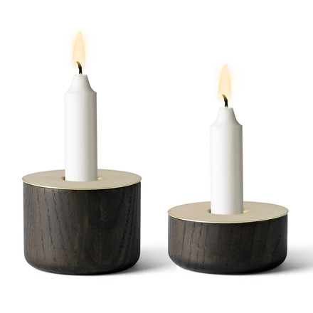 Menu - Chunk of Wood, both sizes - woith candles