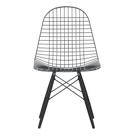 Vitra - Wire Chair DKW, maple black - Front, single image