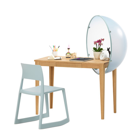 Vitra - Sphere Table, group image blue, with Tip Ton