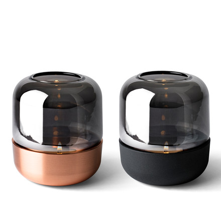 Menu - Fire Hurricane Lantern, Copper, black - with tealight