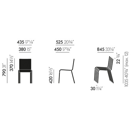 Vitra - .03 Chair, measure