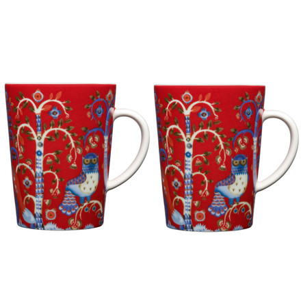 Iittala - Taika red, cup with handle / 0.4 l, set of 2