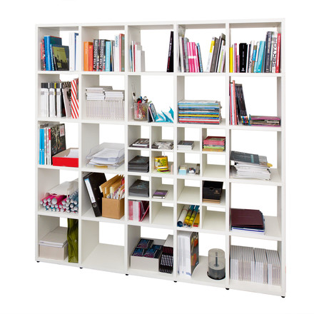 Flötotto - Shelving System 355, white - with CD-cross, single image