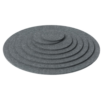 Hey Sign - Trivet round, anthracite