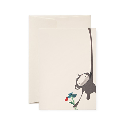 pleased to meet - Monkey Greeting Card