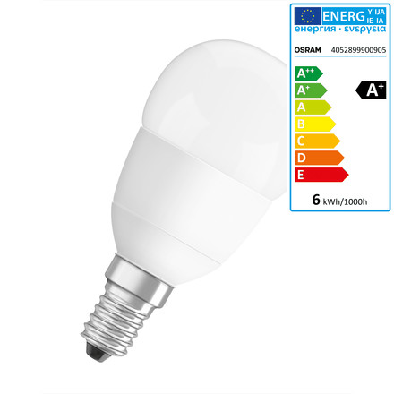 Osram - LED Star / Superstar Classic P 40 (adv), E14, frosted