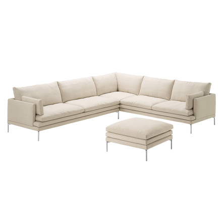Zanotta - William Sofa, beige - edge and ottoman