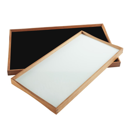 Tablett Turning-Tray - 30 x 48 cm, schwarz/weiß