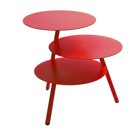 Pulpo - Trio Side Table, signal rot (RAL 3001)