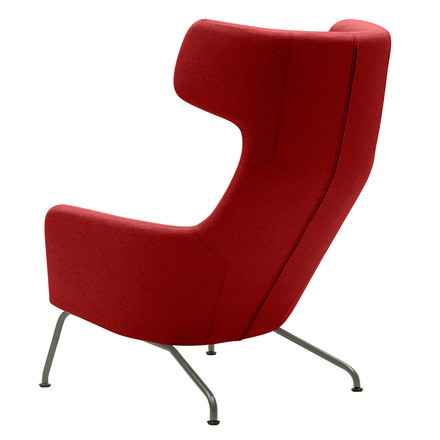 Softline - Havanna Armchair, red - back