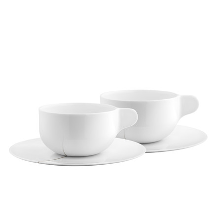 Georg Jensen - Tea with Georg teacup with saucer set of 2, single image