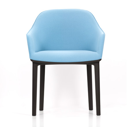 Vitra - Softshell Chair, plano, ice-grey frontal