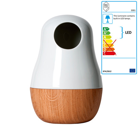 Babula, table lamp, oak, single image