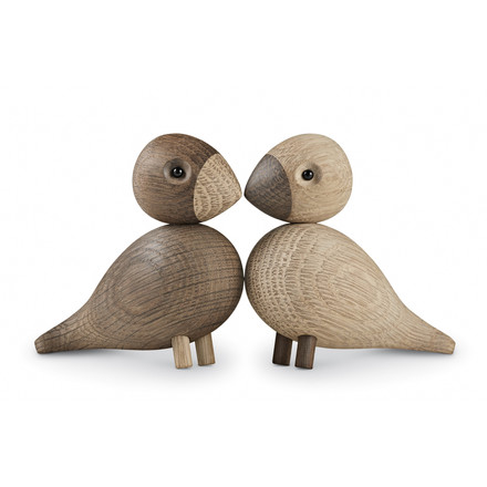 Kay Bojesen Denmark - Lovebirds set of 2, wooden birds