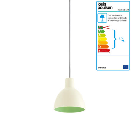 Louis Poulsen - Toldbod 120 pendant lamp, white / green