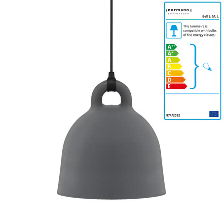 Normann Copenhagen - Bell pendant lamp, medium, grey