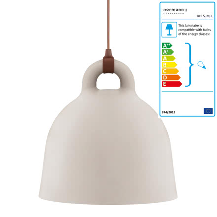 Bell pendant lamp by Normann Copenhagen in sand (large)