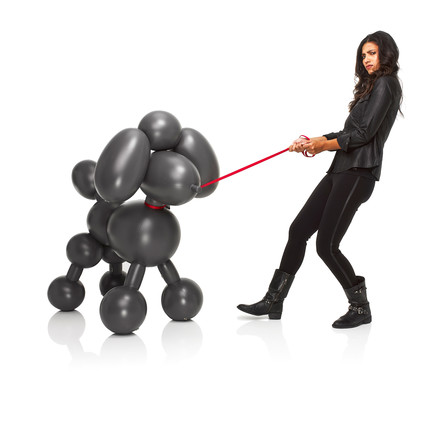 Fatboy - Inflatable Dolly, anthracite - with woman
