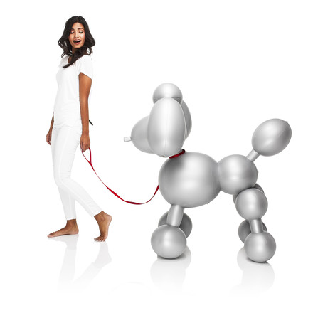 Fatboy - Inflatable Dolly, silver - with woman