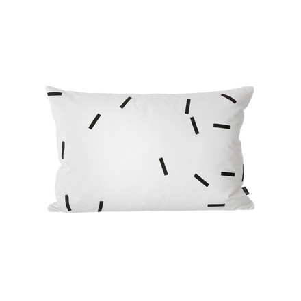 Ferm Living - Black Mini Stick Cushion, 60x40