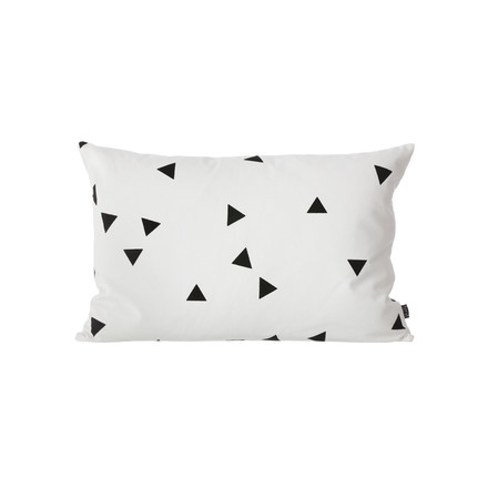 Ferm Living - Black Mini Triangle cushion, 60x40