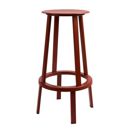 Hay - Revolver Stool, Barhocker, red, 76 cm