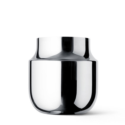 Menu - Gam Fratesi Vase, wide, stainless steel