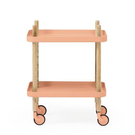 Normann Copenhagen - Block side cart, coral, single image