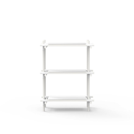 Menu - Stick System, shelf, white / white, 1 x 3 - single image