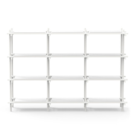 Menu - Stick System, shelf, white / white, 3 x 4