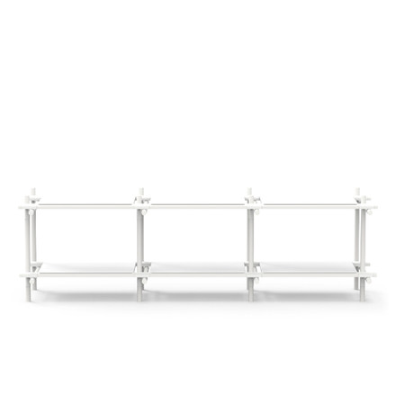 Menu - Stick System, shelf, white / white, 3 x 2