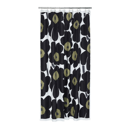 Marimekko - Unikko Shower Curtain, white / black