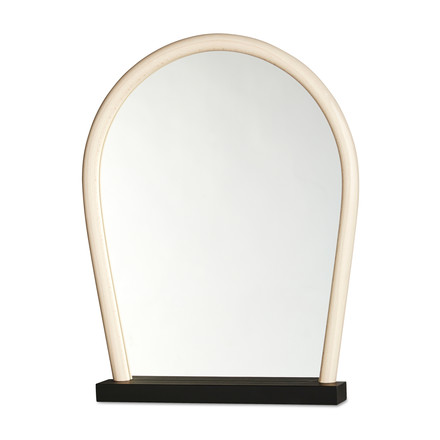 Hay - Bent Wood Mirror, black / beech