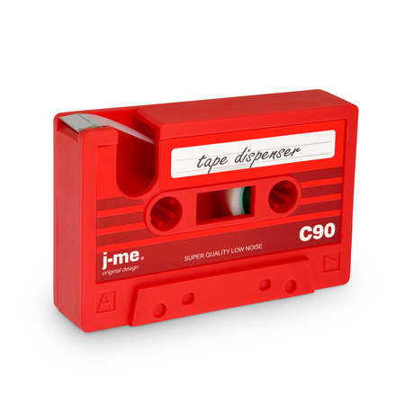 j-me - cassette tape dispenser, green, red