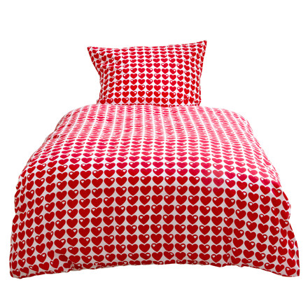 byGraziela - Bed Linen Hearts, red