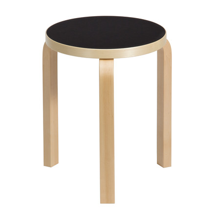 Artek - 60 Hocker, Linoleum black - single image