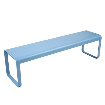 Fermob - Bellevie Bench, Fjord Blue - single image