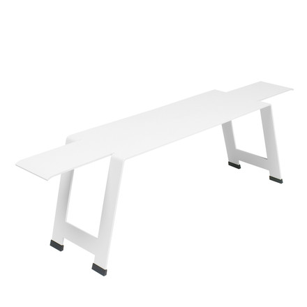 Fermob - Origami Bench, white - single image