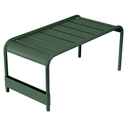 Fermob - Luxembourg Large low table / Garden bench, Cedar Green