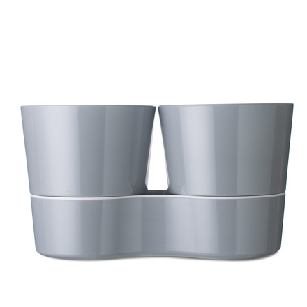 Rosti Mepal - Hydro Herb Pot Twin, grey