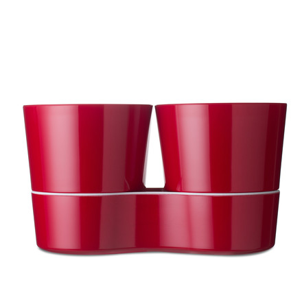 Rosti Mepal - Hydro Herb Pot Twin, red