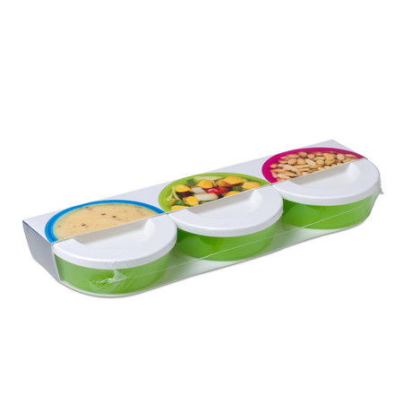 Rosti Mepal - Mini Box To Go 3 Pcs, lime