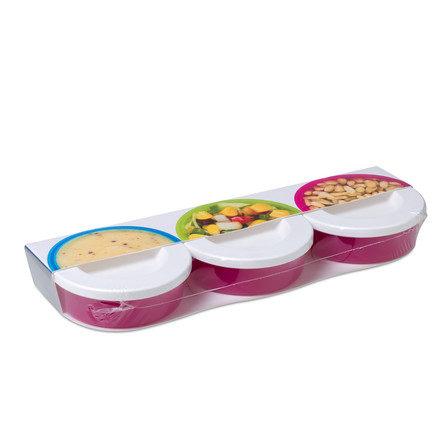 Rosti Mepal - Mini Box To Go 3 Pcs, rubine red