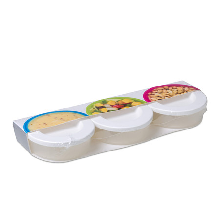 Rosti Mepal - Mini Box To Go 3 Pcs, white
